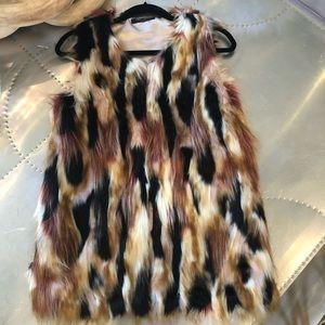 Romeo and Juliet Couture faux fur vest